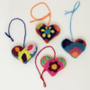 Embroidered Puff Hearts