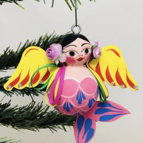 Gordita Angel Paper Mache Ornament