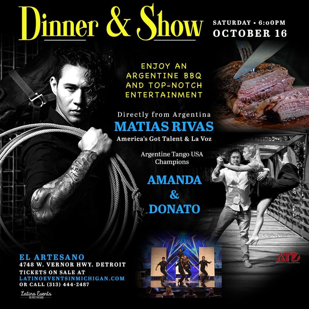 Dinner & Show with Matias Rivas and Amanda & Donato