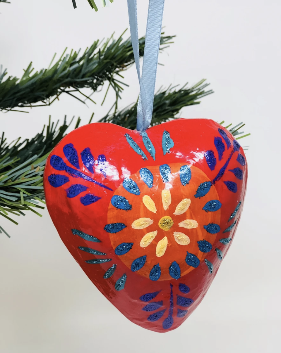 Large Paper Mache Puffed Heart