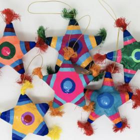 Pinata Paper Mache Ornament