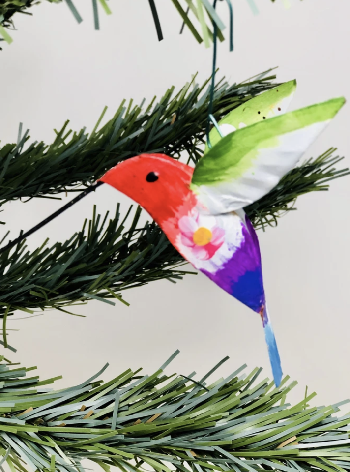 Tin Hummingbird Ornament