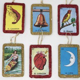 loteria card ornament